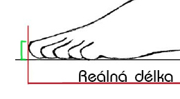 Výška nechtu u palce